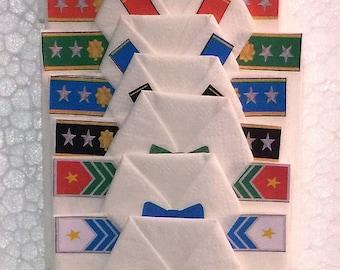 Military Style Origami Dress Shirt Napkins