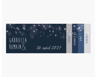 Wedding invitations - Starry night