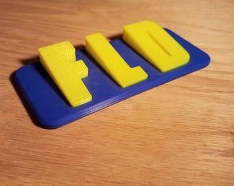 Custom Two Color 3D Printed Nameplates - Any Color - 6 In x 2.5 In