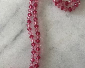 Pink Two-toned Swarovski Crystal Necklace
