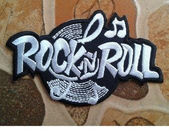 Rock n Roll Music Embroidered Patch.