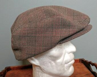 Vintage Flat Cap Hat // Newsboy Hat // Retro Driver's Cap