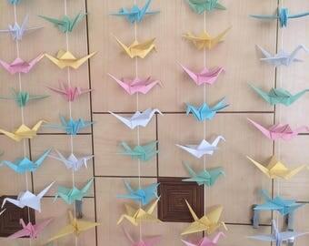 1000 origami paper cranes: 50 strands set of 20 cranes - wedding decoration - anniversary - party ....