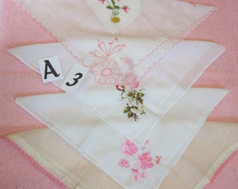 Vintage ladies cotton hankies