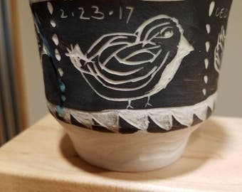 Hand Made Pottery Tea Bowl #1