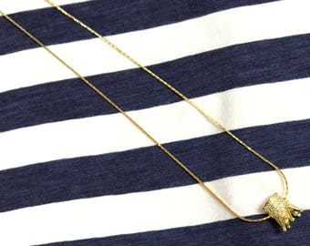 Crown necklace. Gold crown necklace