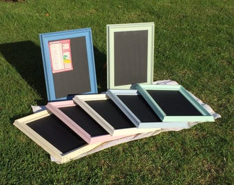 Magic magnetic chalk boards in pastel colours