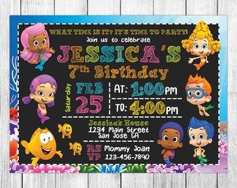 Bubble Guppies Invitation, Bubble Guppies Birthday, Bubble Guppies Invite, Bubble Guppies Party, Bubble Guppies Printable, Custom, Evite