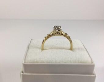 Vintage Gold & Diamond Wedding Set