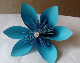 handmade paper flowers, kusudama