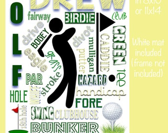 Personalized Golf Collage