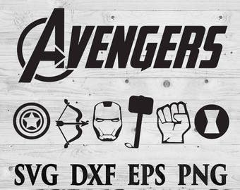 Avengers SVG Files Avengers Silhouettes Avengers DXF Files Avengers Cutting files Avengers Cricut Silhouette Instant Download Digital files