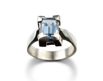 Handmade Sterling Silver Blue Topaz Ring