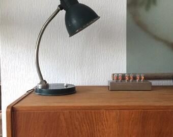 Vintage lamp dark green