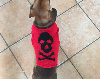 Dog Vest/Sweater Heavy Metal or Halloween