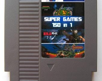 150 In 1 NES Multi Game Cartridge Inc. Mega Man, Super Mario, Castlevania, Double Dragon - UK Item