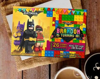 Lego Batman Invitations Lego Birthday Invitation Lego