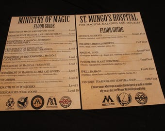 St Mungo's Hospital & Ministry of Magic floor guide