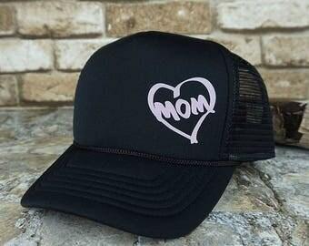 Heart Mom Trucker Cap
