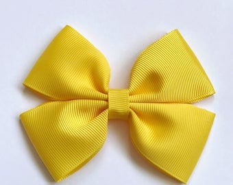 Bright Yellow Hair Bow