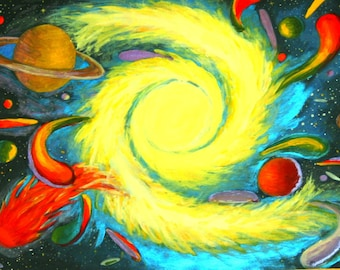 "Digital Print Galaxy ""Energetic Cosmos"""