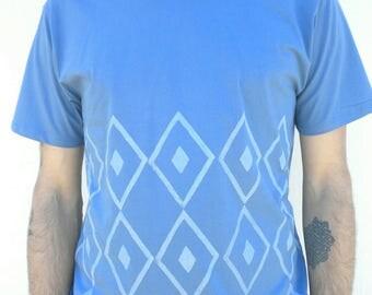 100% Bio cotton linocut Tshirt men
