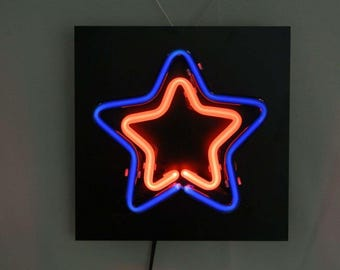Neon Sign Brand New Double Star Light , Personalized , Custom , Great GIFT