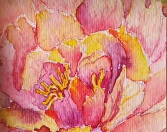 Watercolor Flower Painting (Original)
