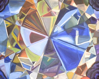 Diamond Series Artwork-Blue Diamond Photocopy