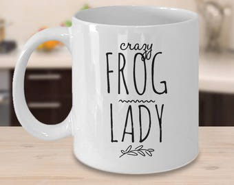 Frog Coffee Mug - Gift For Frog Lover - Frog Gift Idea - Crazy Frog Lady - Prince Charming Gifts