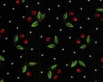 Mary engelbreit fabric black  cherry very very cherry material sewing by the yard