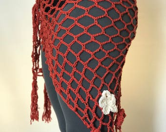 Crocheted Bellydance Hip Scarf- Bloom