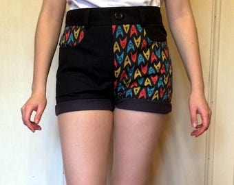 High Waist Shorts 'To boldly go'