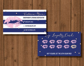 LipSense by Sengage Lip Loyalty Card and business card double sided