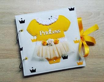 Baby girl photo album, Baby princess photo album, baby shower, it's a girl, baby girl gift, memory photo album