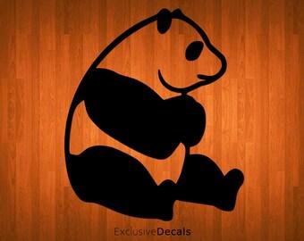PANDA DECAL, macbook decal panda, laptop decal panda, panda stickers, panda decor, panda bear, yeti decal panda, computer decal, stickers