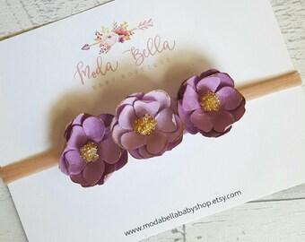 Floral crown, Baby Headbands, Purple flowers, Baby Headband, Hair Accessories, Newborn Headband, Infant Headbands, Baby Girl Headbands