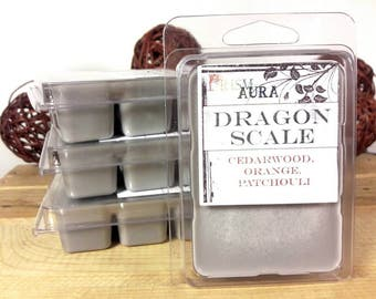 Patchouli Wax Melt 'Dragon scale' Made with all natural essential oils of orange, patchouli, and cedar wood. great renaissance scent