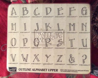 Stampin Up Outline Alphabet Upper