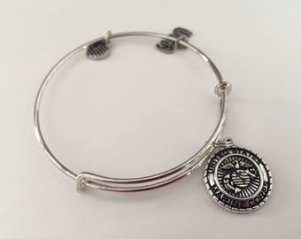 Marine Corps charm bracelet