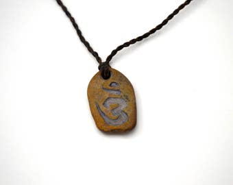 Om (peace and tranguility) Stone Necklace