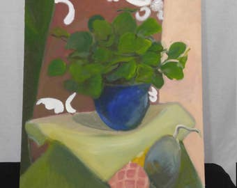 Still life of potted plant
