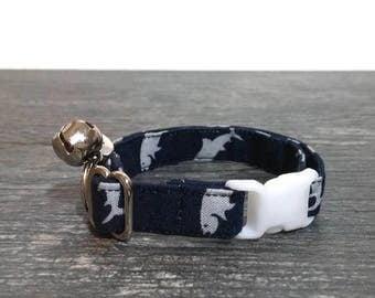 Navy Blue Fish Cat Collar, Fish Cat Collar, Cat Collars, Cat Toys, Pet Supplies, Trout Cat Collar, Cat Collar, Breakaway Cat Collars, Cat