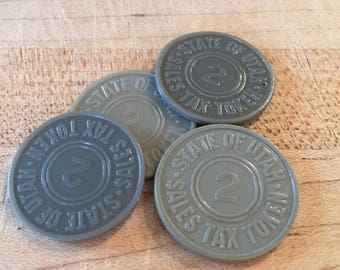 State of Utah #2 Sales Tax Token , Sold Individually