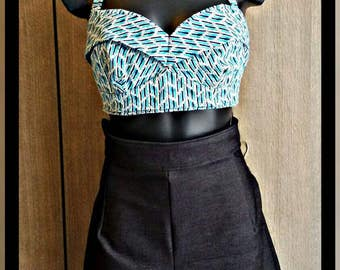 50's retro bandeau  halter top available on commission