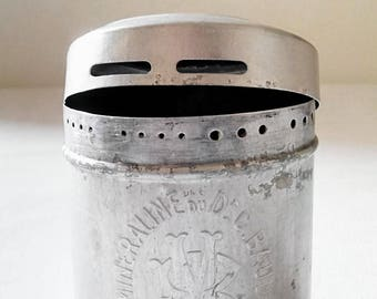 Box vintage aluminum talcum Mineraline of Dr. C.Baud. France 1930