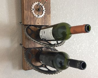 Bicycle part wine rack