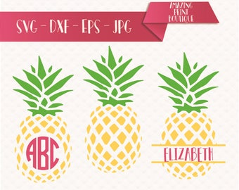 Download Pineapple Monogram Svg Pineapple Svg Pineapple Circle