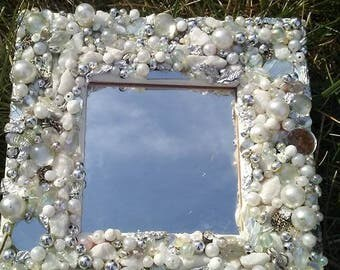 Embellished White Mirror!