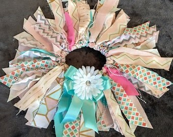 Pink, Gold and Teal Fabric Tutu